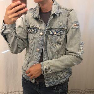 AEO Distressed Blue Jean Jacket